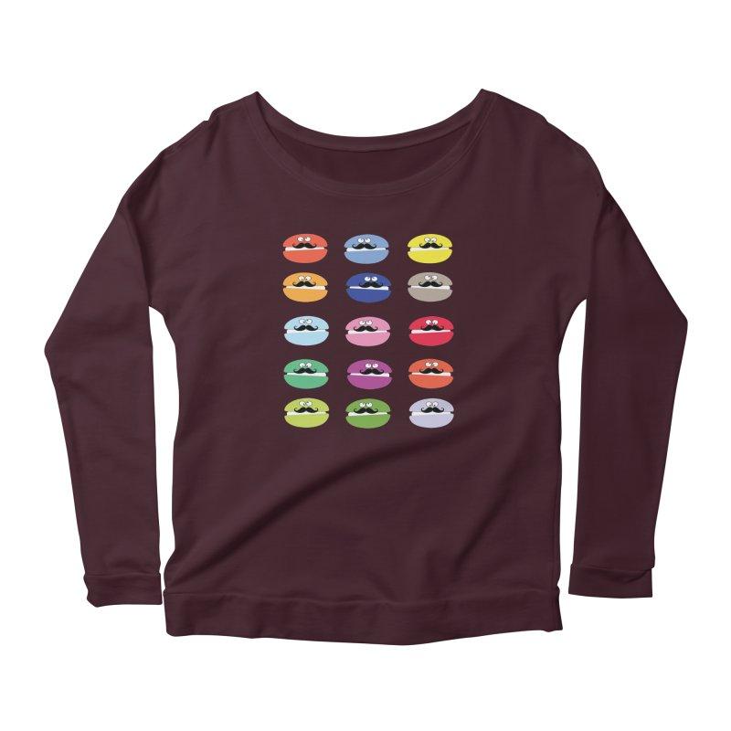 mustache macarons Women's Longsleeve T-Shirt by cindyshim's Artist Shop