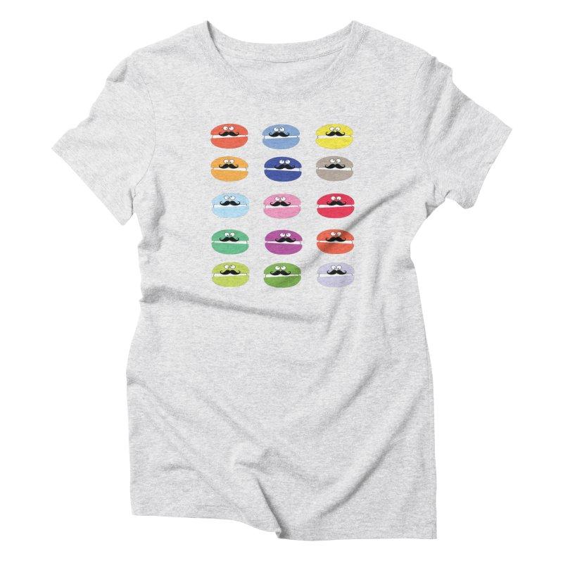 mustache macarons Women's T-Shirt by cindyshim's Artist Shop
