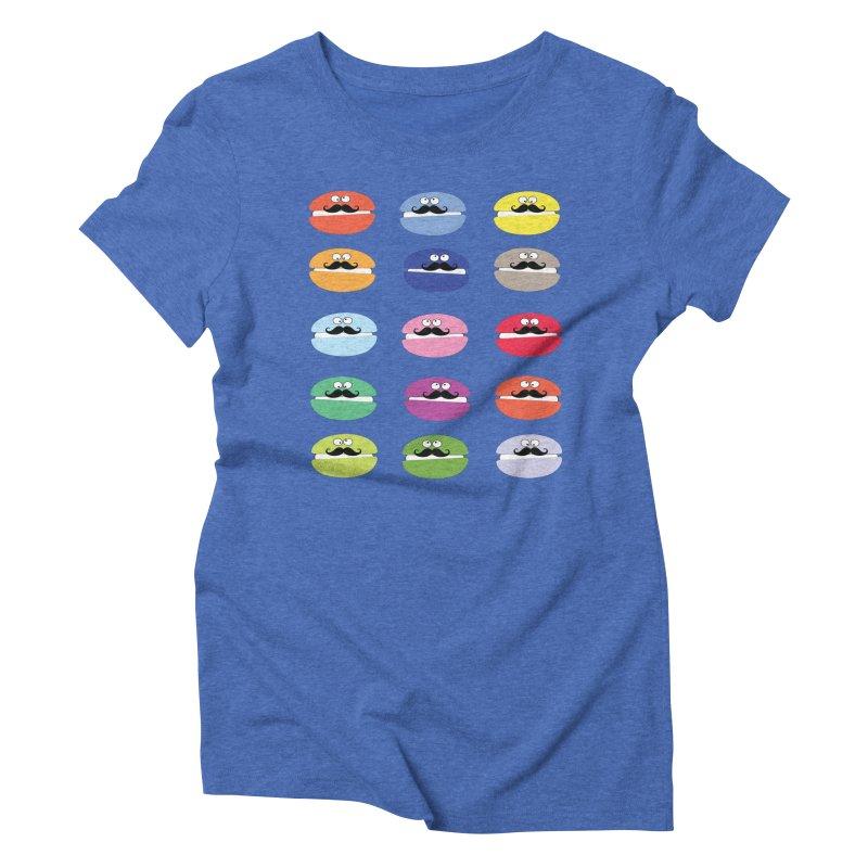 mustache macarons Women's Triblend T-Shirt by cindyshim's Artist Shop