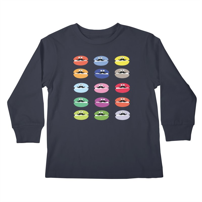 mustache macarons Kids Longsleeve T-Shirt by cindyshim's Artist Shop