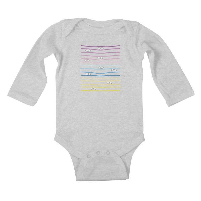 Watching you Kids Baby Longsleeve Bodysuit by cindyshim's Artist Shop