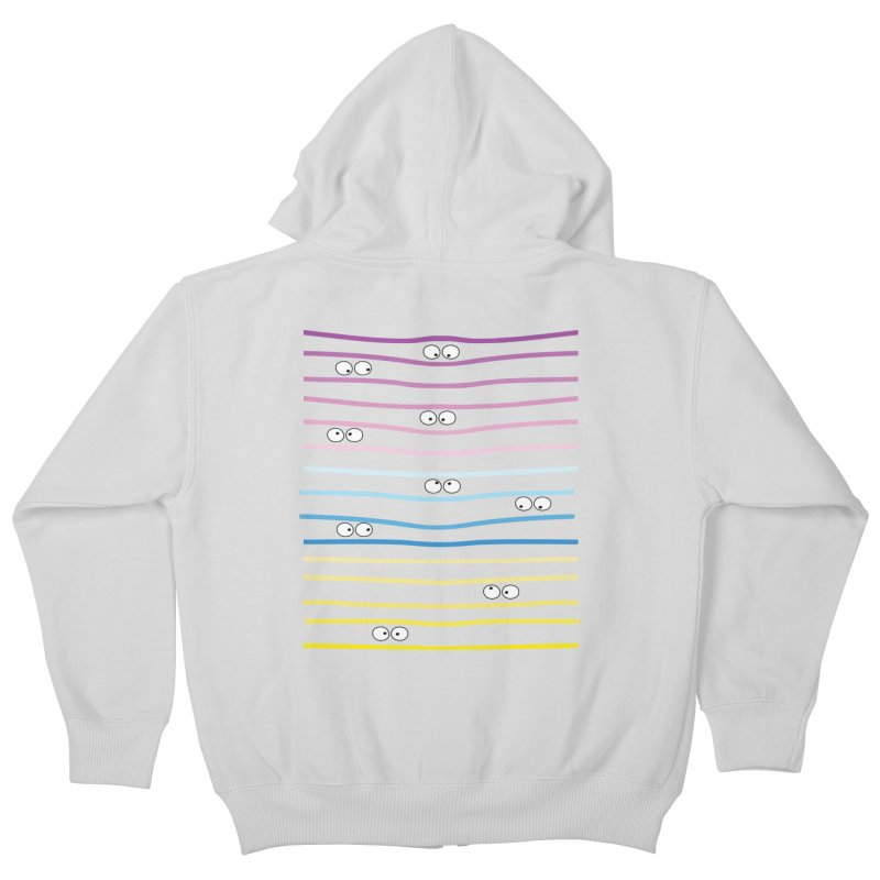 Watching you Kids Zip-Up Hoody by cindyshim's Artist Shop