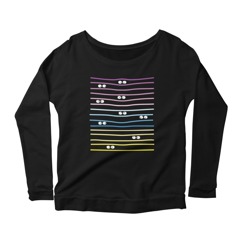 Watching you Women's Longsleeve Scoopneck  by cindyshim's Artist Shop