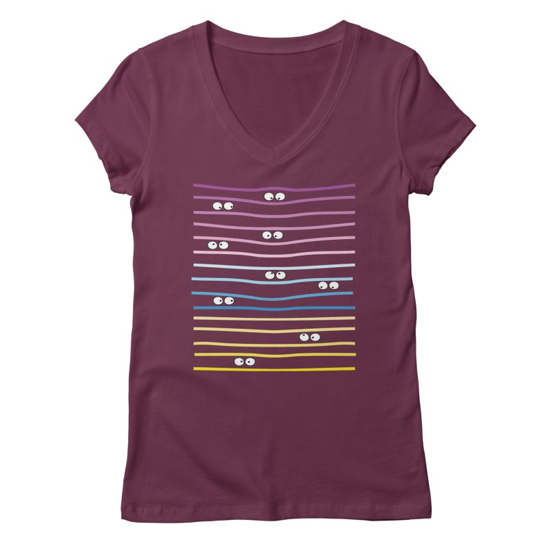 Watching you Women's V-Neck by cindyshim's Artist Shop
