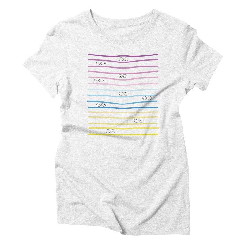 Watching you Women's Triblend T-shirt by cindyshim's Artist Shop