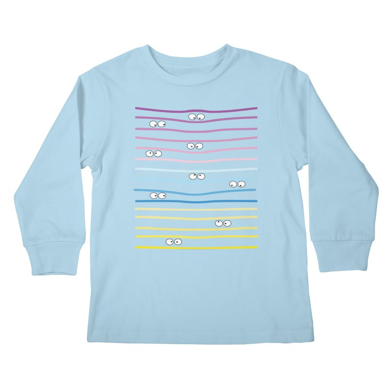 Watching you Kids Longsleeve T-Shirt by cindyshim's Artist Shop