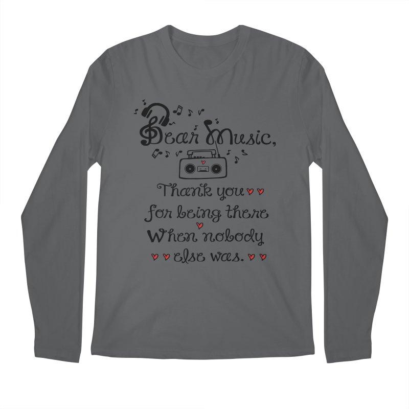 Dear music Men's Longsleeve T-Shirt by cindyshim's Artist Shop