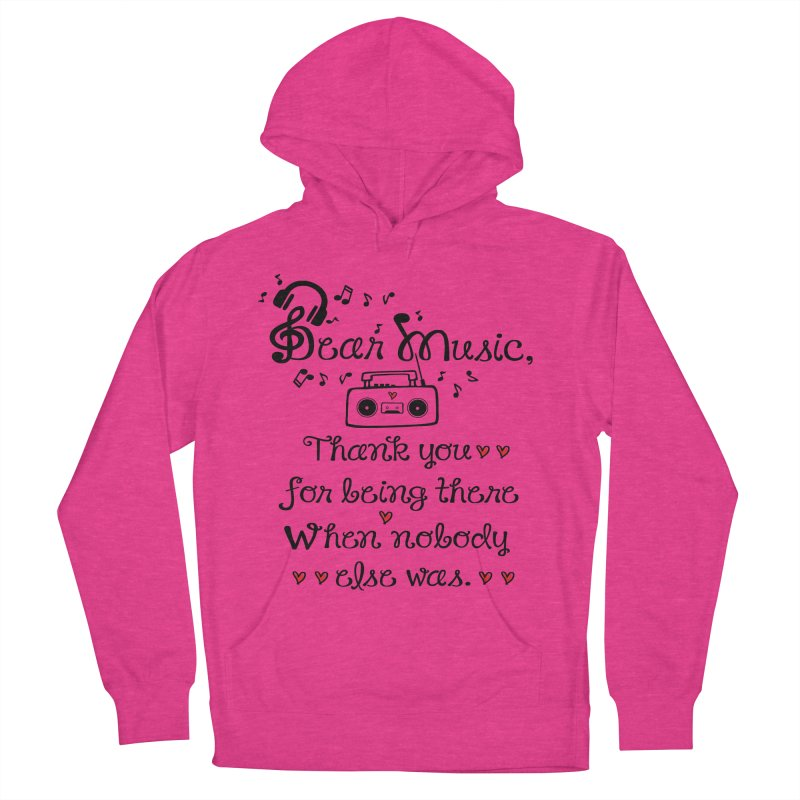 Dear music Men's Pullover Hoody by cindyshim's Artist Shop