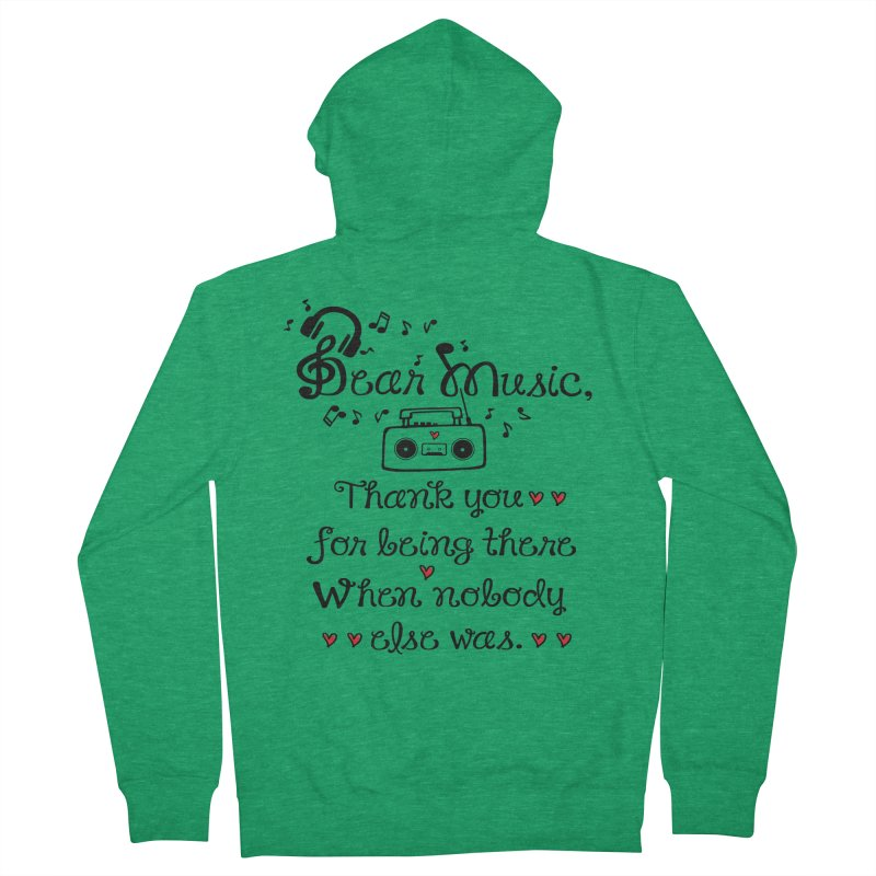Dear music Men's French Terry Zip-Up Hoody by cindyshim's Artist Shop