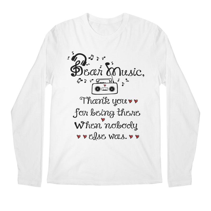 Dear music Men's Regular Longsleeve T-Shirt by cindyshim's Artist Shop