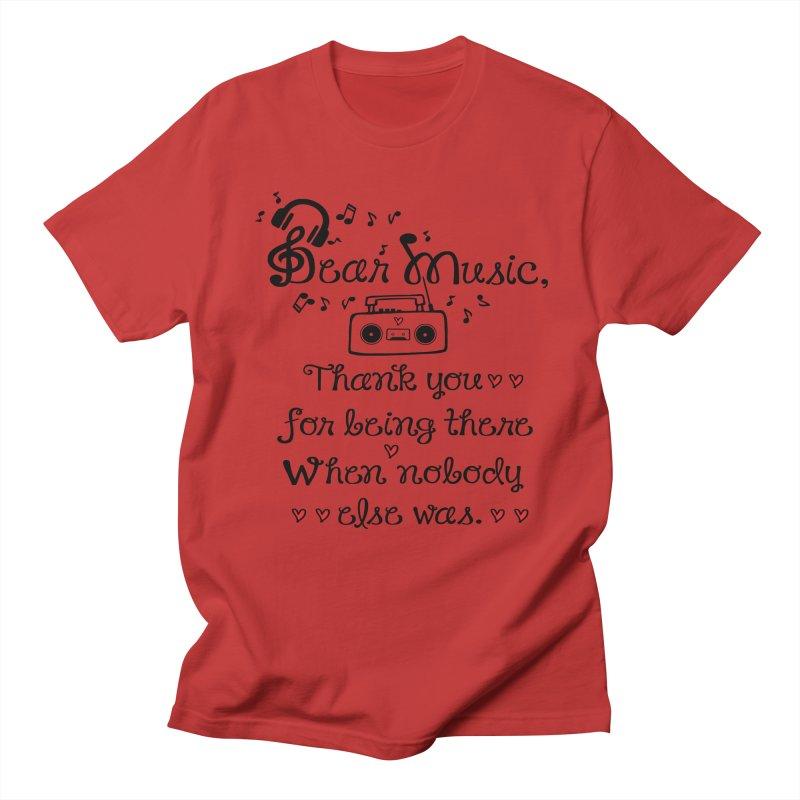 Dear music Women's Regular Unisex T-Shirt by cindyshim's Artist Shop
