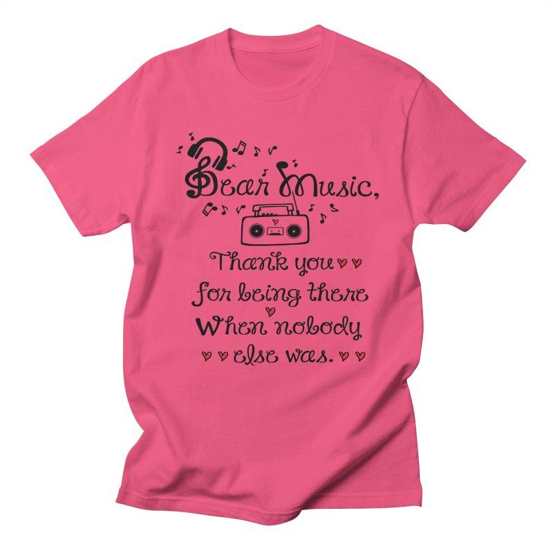 Dear music Men's T-shirt by cindyshim's Artist Shop