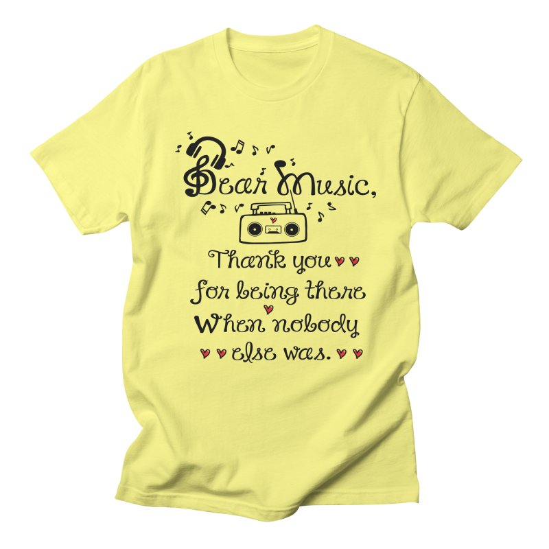 Dear music Men's T-Shirt by cindyshim's Artist Shop