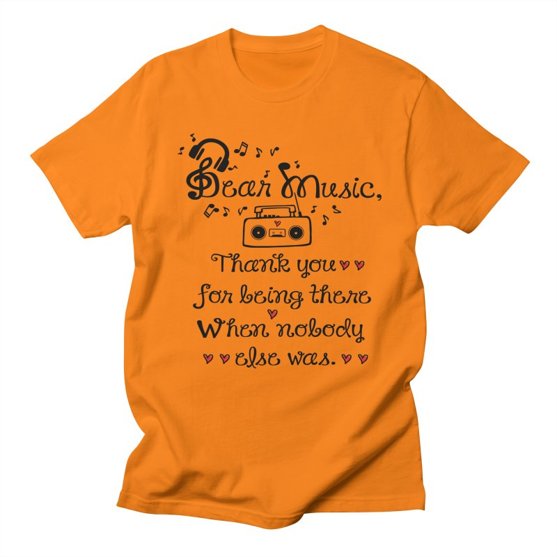 Dear music Men's Regular T-Shirt by cindyshim's Artist Shop