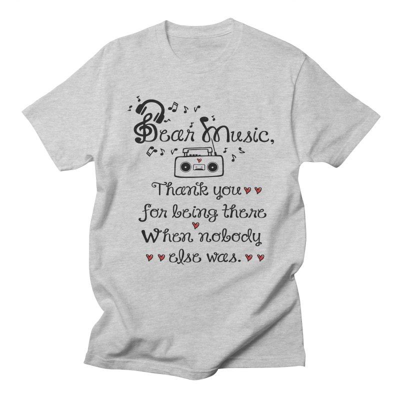 Dear music Men's Regular T-Shirt by cindyshim's Artist Shop