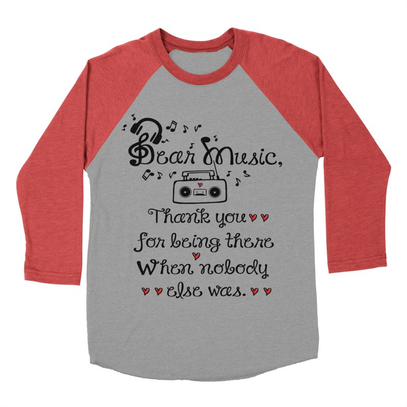 Dear music Men's Baseball Triblend T-Shirt by cindyshim's Artist Shop