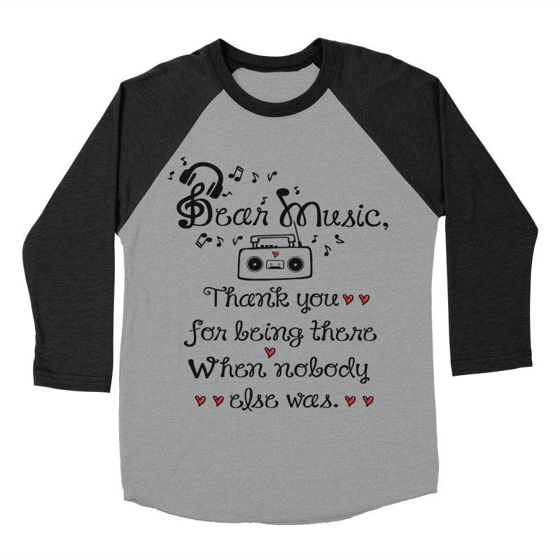 Dear music Men's Baseball Triblend T-Shirt by cindyshim's Artist Shop