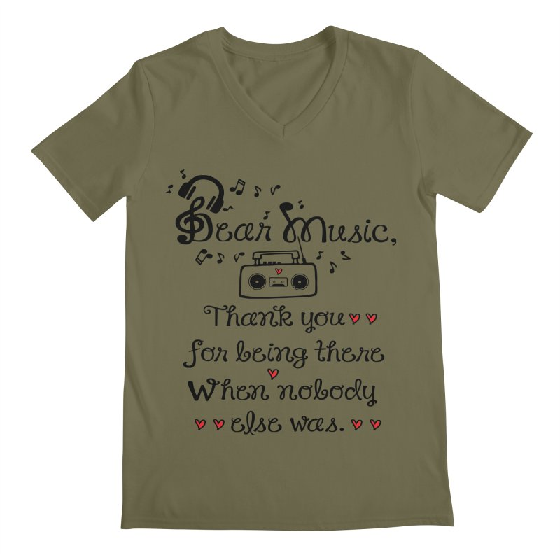 Dear music Men's V-Neck by cindyshim's Artist Shop
