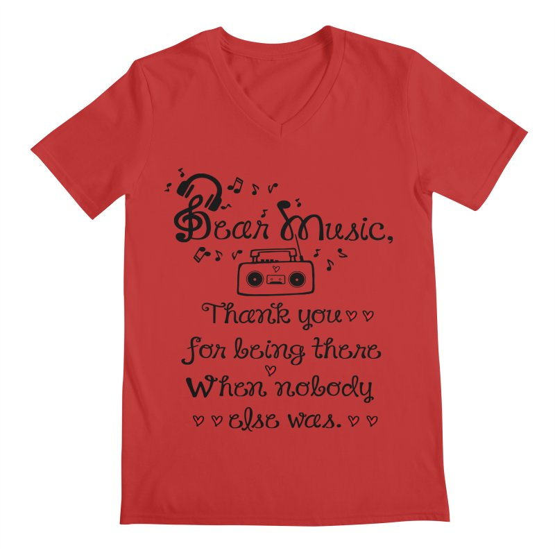 Dear music Men's Regular V-Neck by cindyshim's Artist Shop