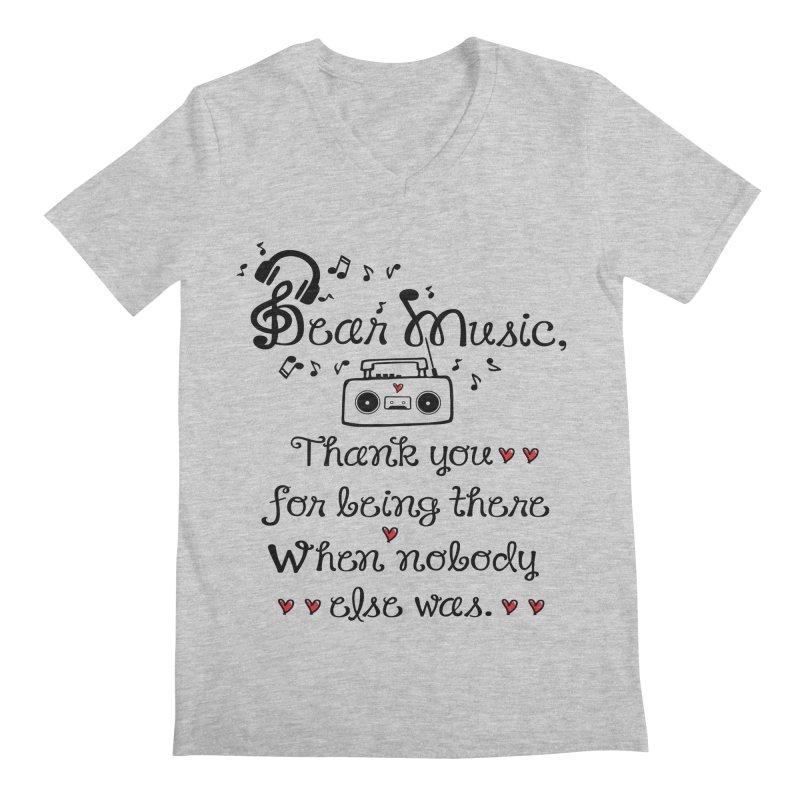 Dear music Men's V-Neck by cindyshim's Artist Shop