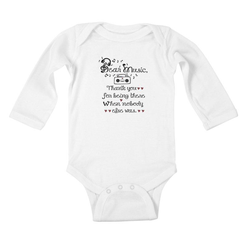 Dear music Kids Baby Longsleeve Bodysuit by cindyshim's Artist Shop