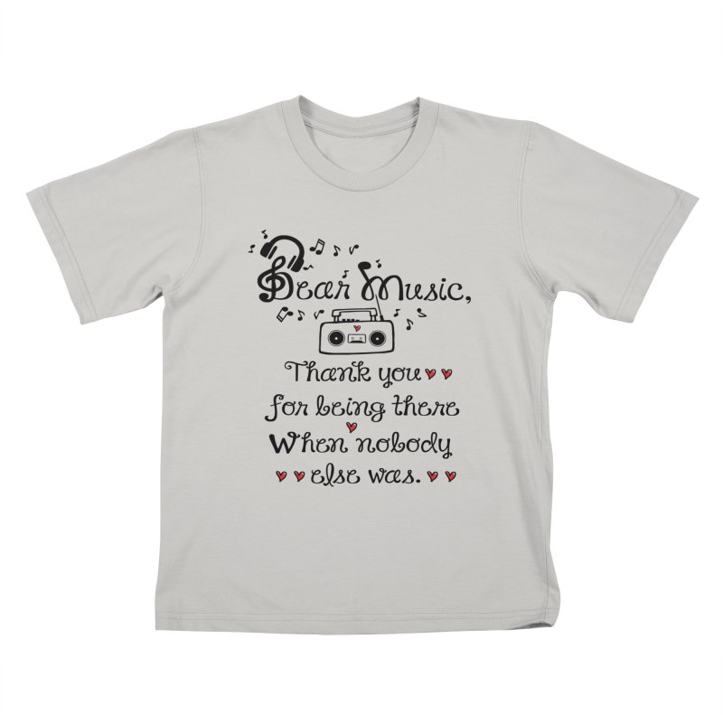 Dear music Kids T-shirt by cindyshim's Artist Shop