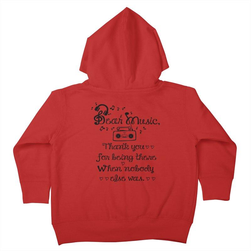 Dear music Kids Toddler Zip-Up Hoody by cindyshim's Artist Shop