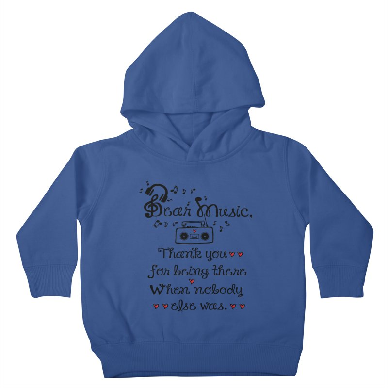 Dear music Kids Toddler Pullover Hoody by cindyshim's Artist Shop