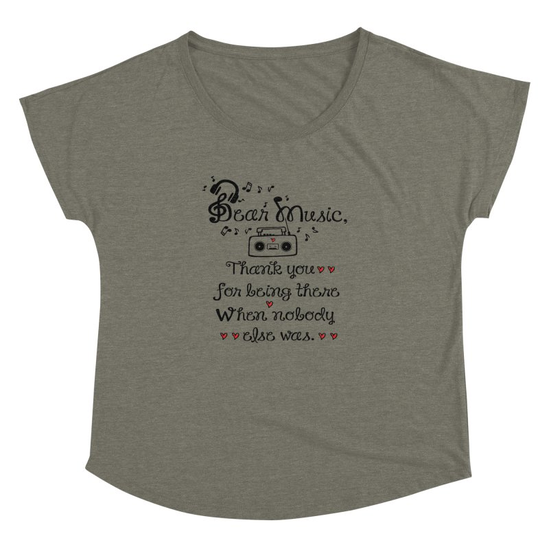 Dear music Women's Dolman by cindyshim's Artist Shop
