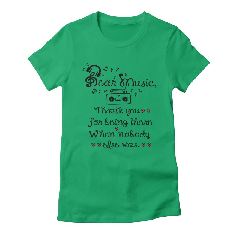 Dear music Women's Fitted T-Shirt by cindyshim's Artist Shop