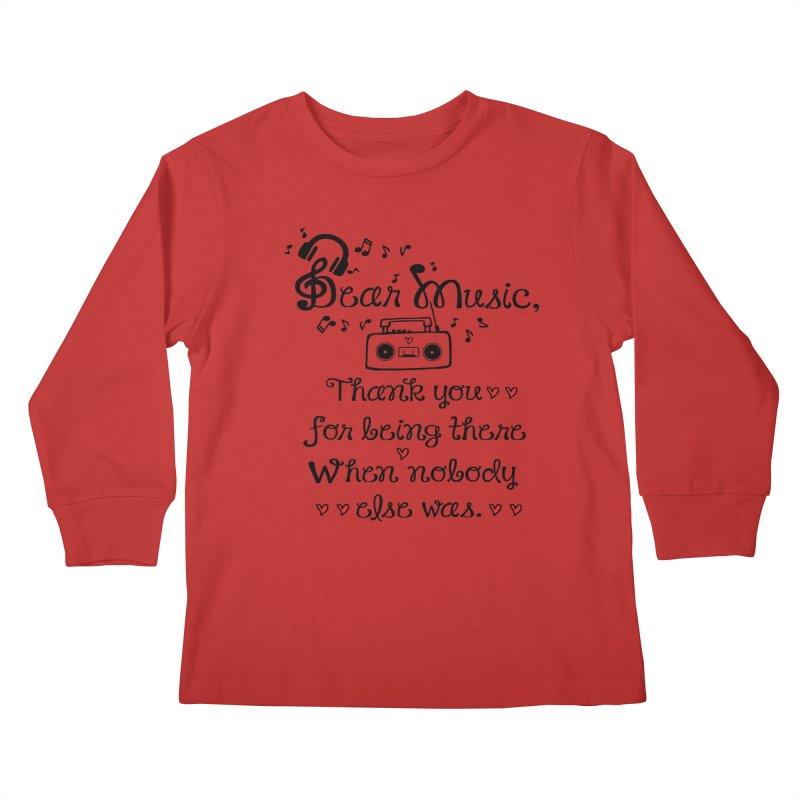 Dear music Kids Longsleeve T-Shirt by cindyshim's Artist Shop