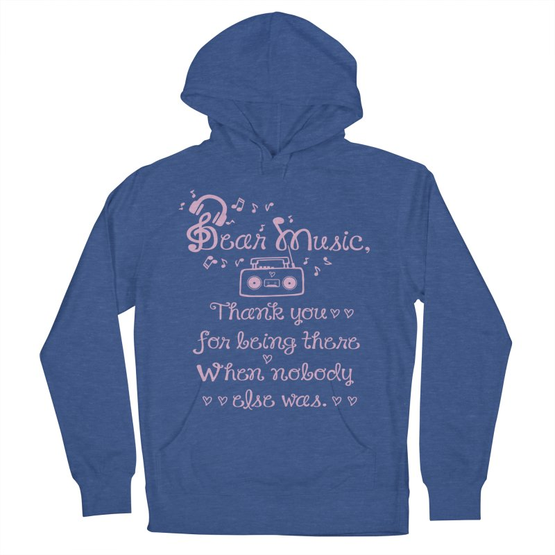 Dear music, thank you Men's French Terry Pullover Hoody by cindyshim's Artist Shop