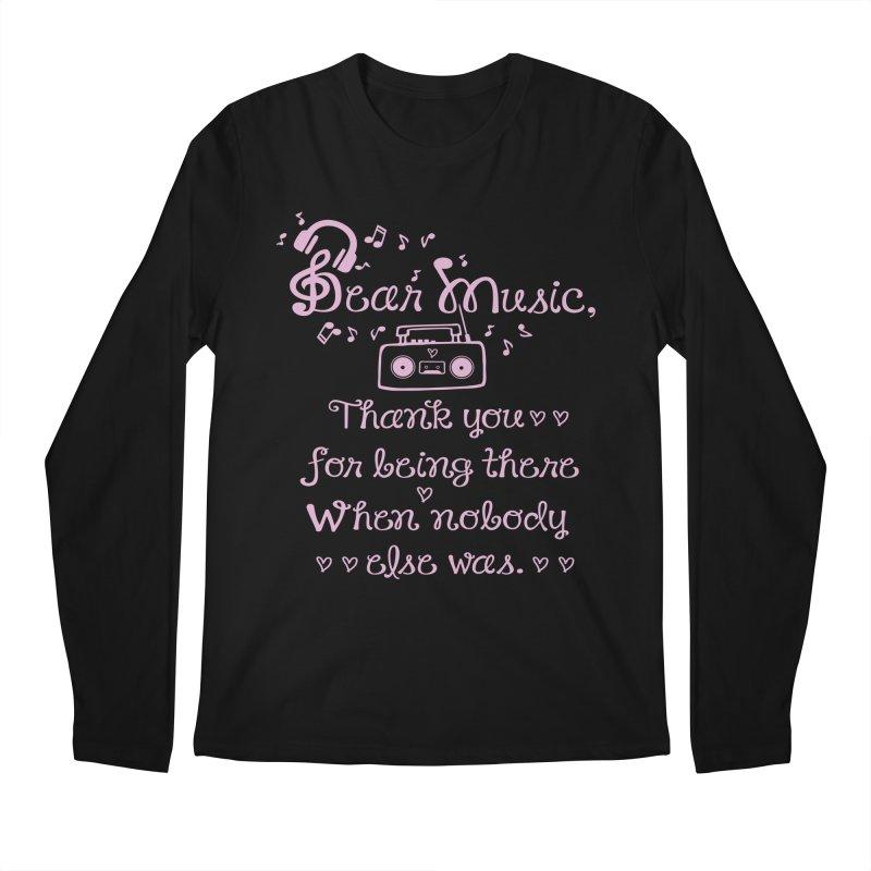 Dear music, thank you Men's Longsleeve T-Shirt by cindyshim's Artist Shop