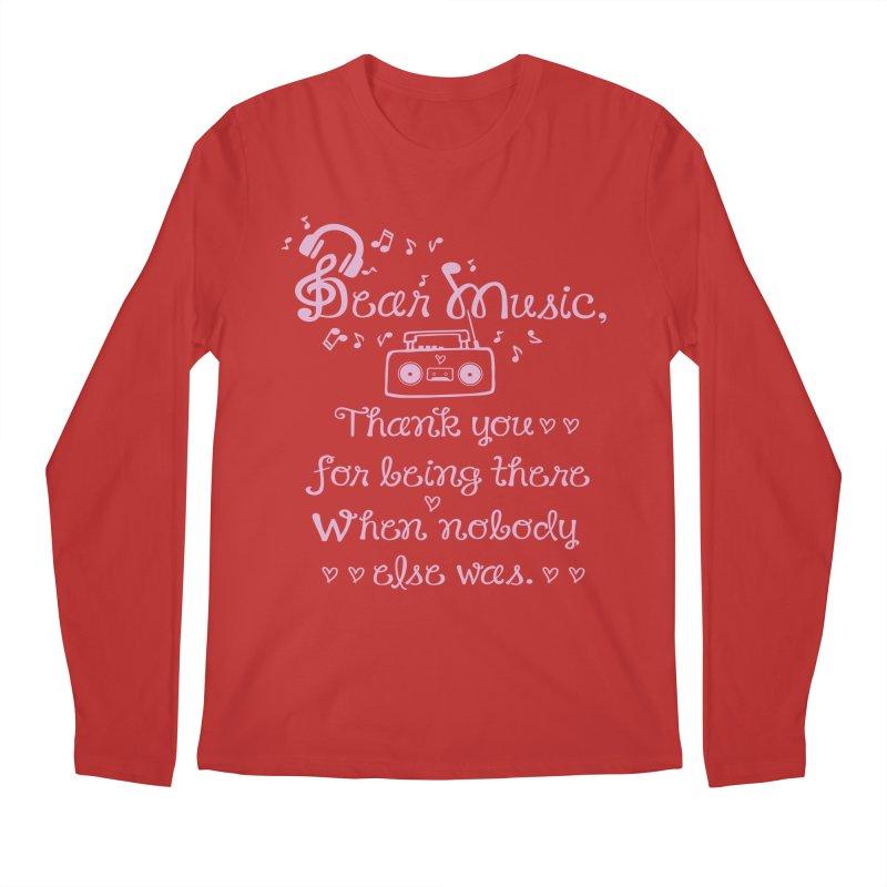Dear music, thank you Men's Regular Longsleeve T-Shirt by cindyshim's Artist Shop