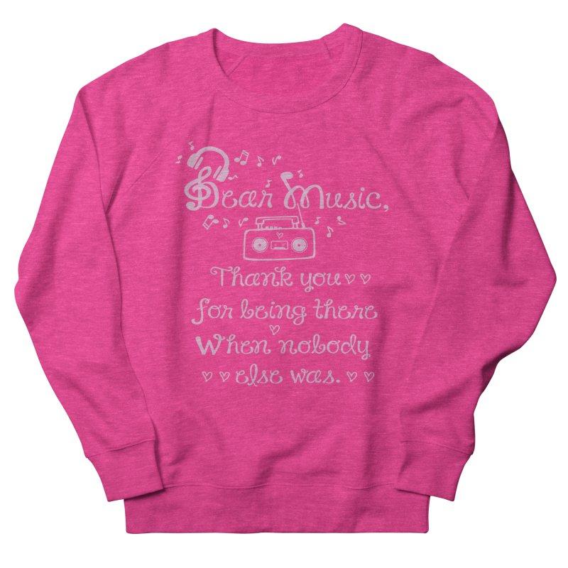 Dear music, thank you Men's French Terry Sweatshirt by cindyshim's Artist Shop