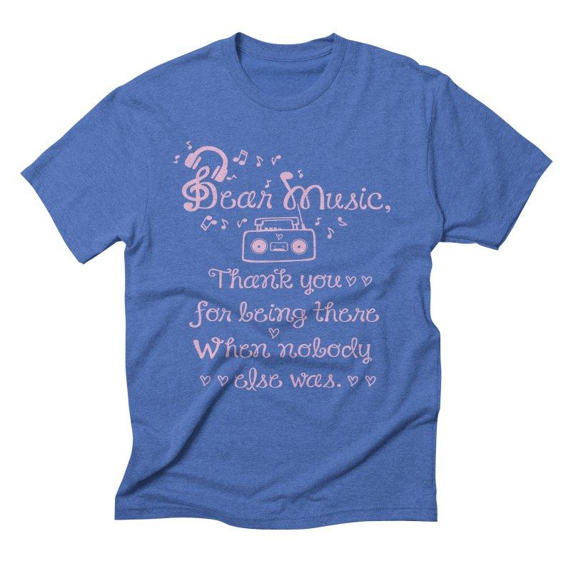 Dear music, thank you Men's  by cindyshim's Artist Shop