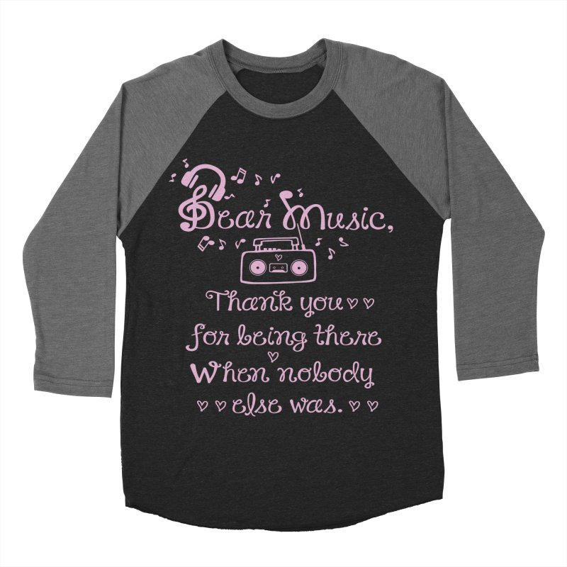 Dear music, thank you Men's Baseball Triblend T-Shirt by cindyshim's Artist Shop