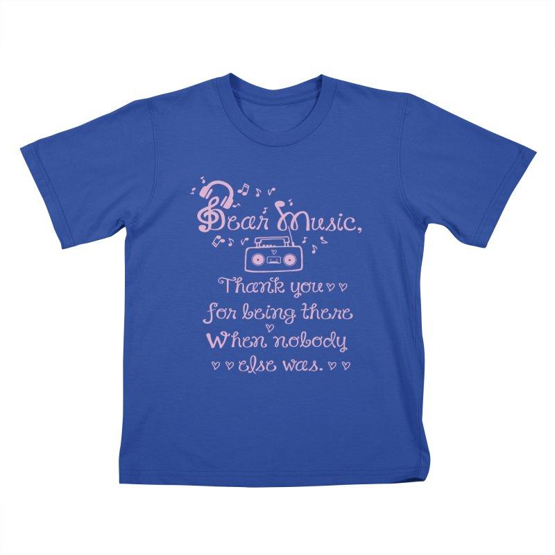 Dear music, thank you Kids T-Shirt by cindyshim's Artist Shop