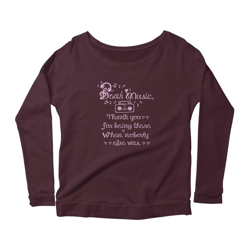 Dear music, thank you Women's Longsleeve T-Shirt by cindyshim's Artist Shop