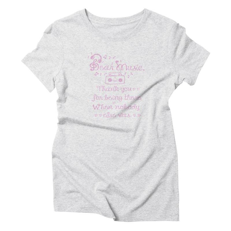 Dear music, thank you Women's T-Shirt by cindyshim's Artist Shop
