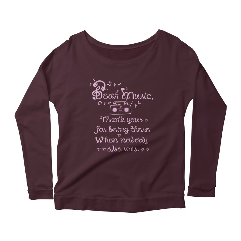 Dear music, thank you Women's Longsleeve Scoopneck  by cindyshim's Artist Shop