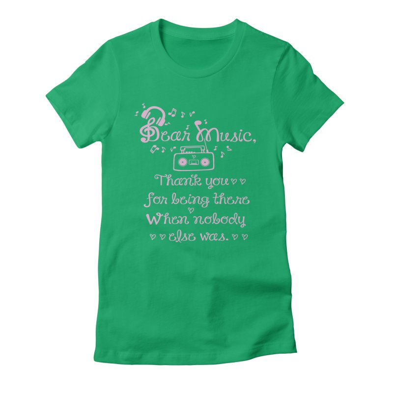 Dear music, thank you Women's Fitted T-Shirt by cindyshim's Artist Shop