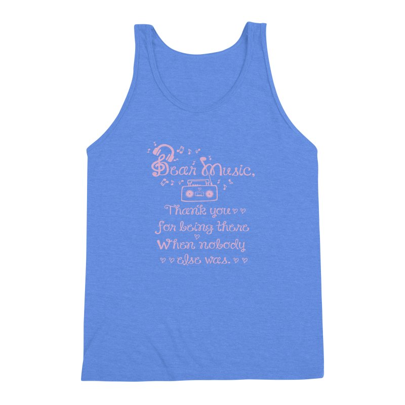Dear music, thank you Men's Triblend Tank by cindyshim's Artist Shop