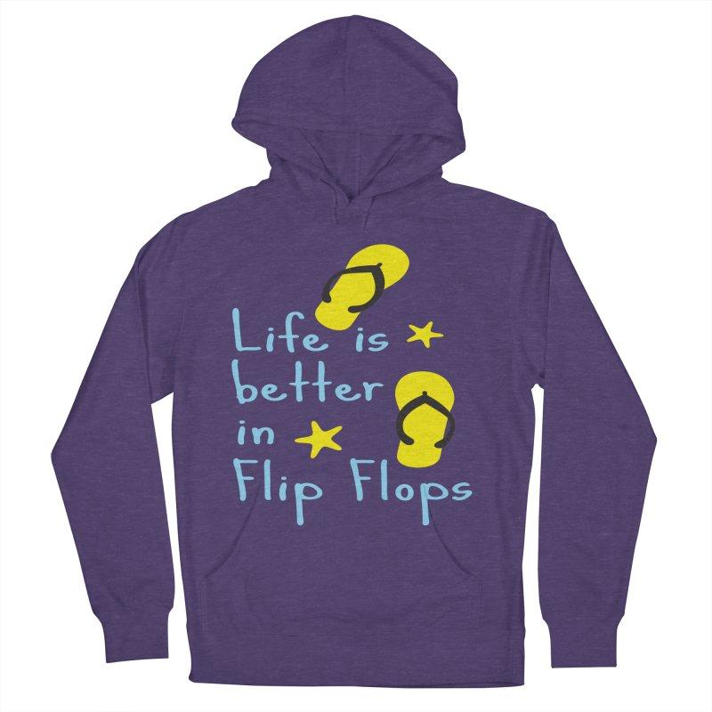 Life is better in flip-flops Women's Pullover Hoody by cindyshim's Artist Shop