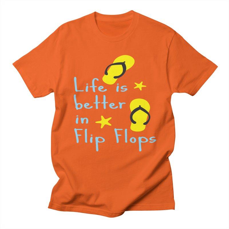 Life is better in flip-flops Men's T-shirt by cindyshim's Artist Shop