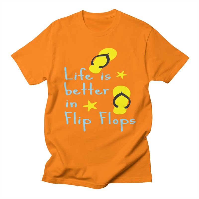 Life is better in flip-flops Men's Regular T-Shirt by cindyshim's Artist Shop