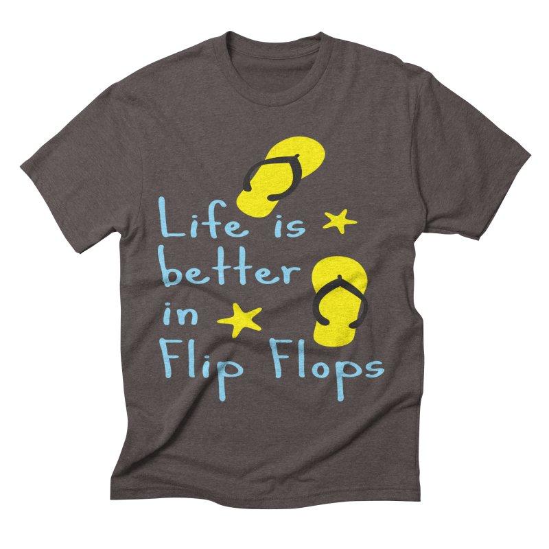 Life is better in flip-flops Men's Triblend T-shirt by cindyshim's Artist Shop