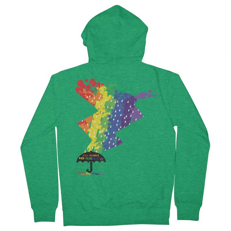 No rain no rainbow Men's French Terry Zip-Up Hoody by cindyshim's Artist Shop