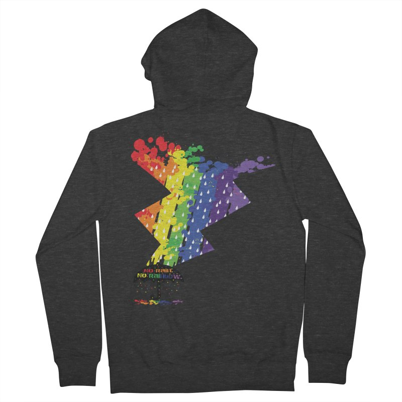 No rain no rainbow Men's French Terry Zip-Up Hoody by cindyshim's Artist Shop