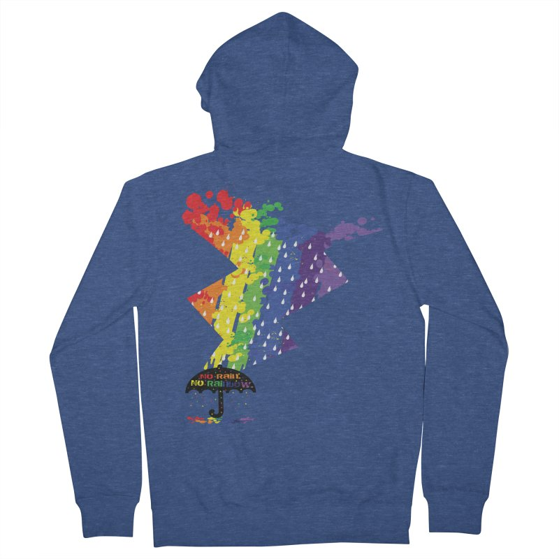 No rain no rainbow Men's Zip-Up Hoody by cindyshim's Artist Shop